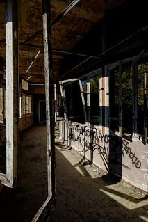 Couloir et fenêtres, Vexin, France