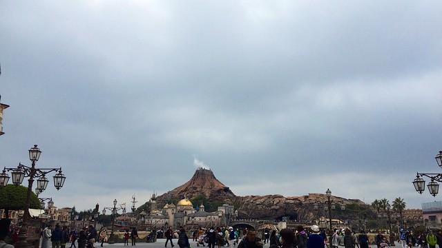 雨模様の東京ディズニーシー