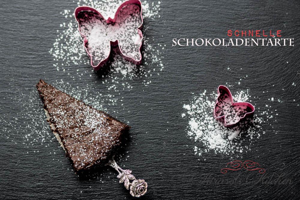 Schnelle Schokoladentarte