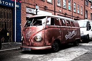 Grungy VW van