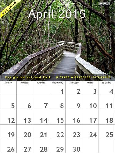 April 2015 National Parks Calendar: Everglades @evergladesnps @NatlParkService #usawild  (attribution-sharealike license)