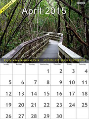 April 2015 National Parks Calendar: Everglades @evergladesnps @NatlParkService #usawild  (attribution-sharealike license)