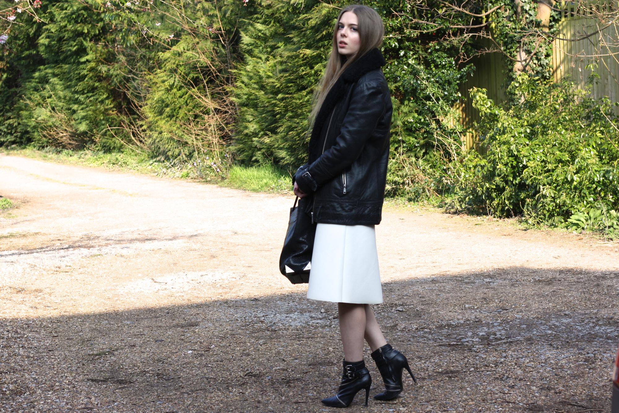 Zara zip leather ankle boots