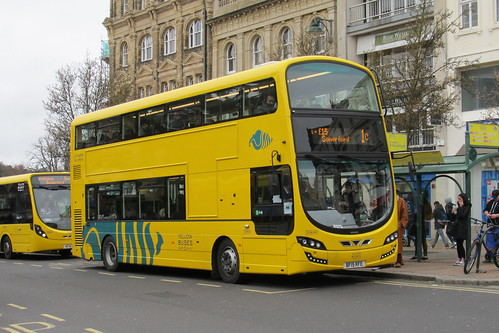 VGW195 BF15KFE Yellow Buses Bournemouth