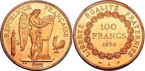 Lot 29751 1894-A 100 Francs