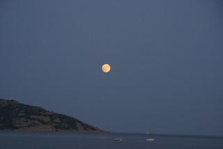 Moon Rises off Cape Town