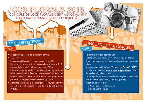 Bases del concurs de Jocs Florals 2015 (CE SAMC)