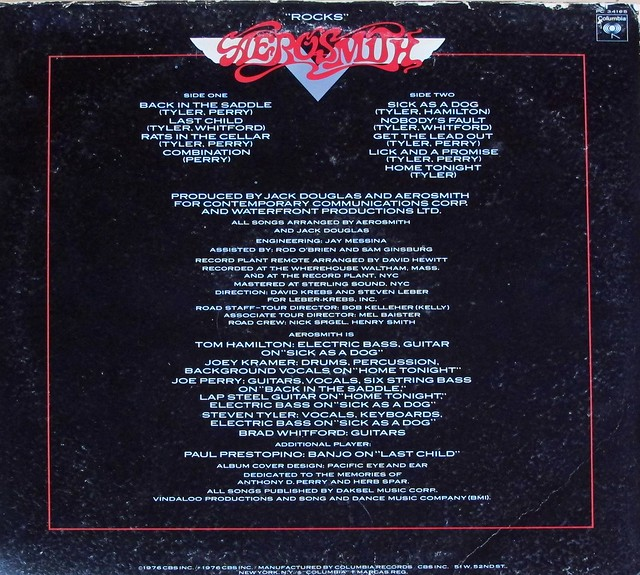 "AEROSMITH Rocks 12"" LP VINYL"