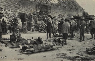 Battle of Messines. Anzac Field Dressing Station, 7 June 1917