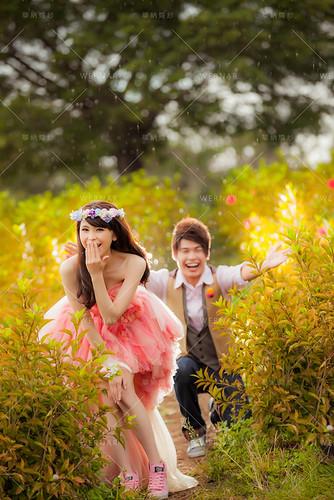 前短後長婚紗禮服 大台北婚紗店 結婚婚紗禮服設計 韓國韓風婚紗照