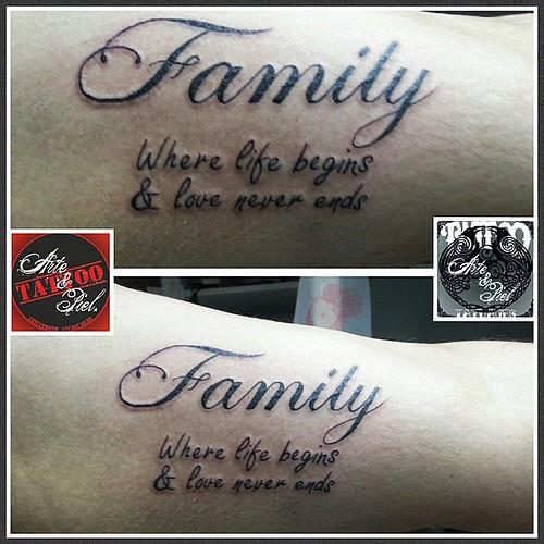 #familia #family #biceps #caligrafia #tattooarteypiel #tatuajes #artisticos #leviathoth #isaaccelis #aguascalientes #mexico #tattooink #tattooart #tattooist #tattoo