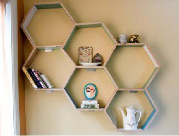 Hướng dẫn làm kệ sách tổ ong ấn tượng cho không gian