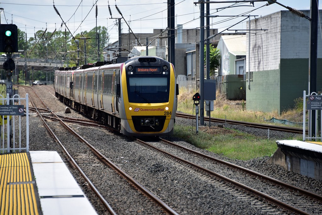 Mystery 4 - Queensland Rail set 284 at Rocklea Station 15 January 2015 by westernthunderer75