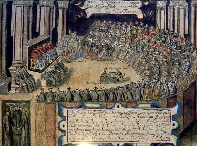 "Session of the Council of Trent in ""Tyrolischer Adler"", by Matthias Burgleichner"
