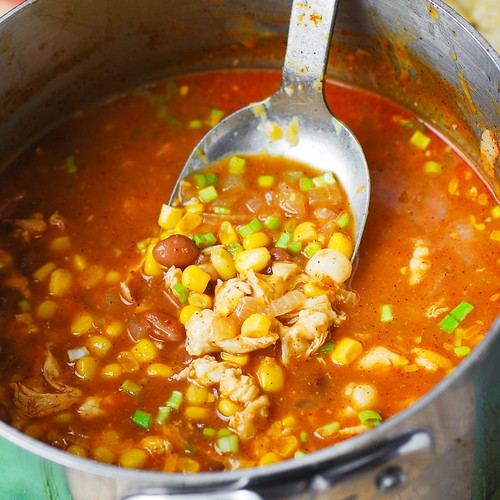 White Chicken Chili with Pinto Beans and Chickpeas