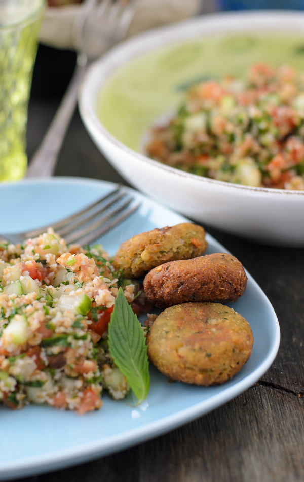 Falafel and tabouleh