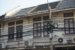 Messy wiring in Bangkok