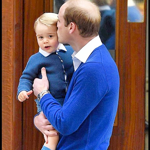 William brings George by to meet his little sister and to see Mummy. TY mailuk for pix.