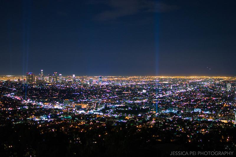 Los Angeles City Lights at Night from Griffith Observatory