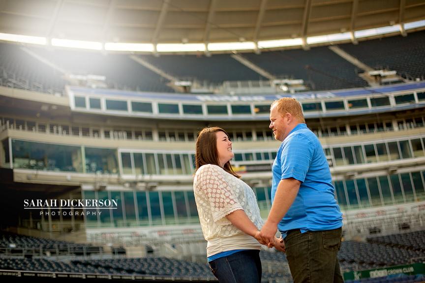 Kauffman Stadium engagement photos