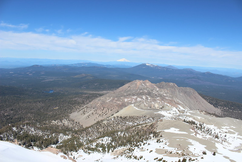 Mount Shasta in the Distance from Lassen Peak