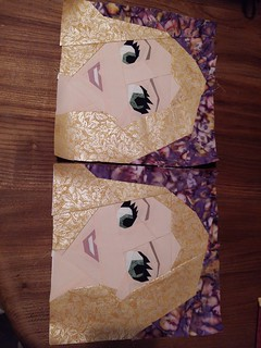 Rapunzel paper pieced block. Fandom in Stitches