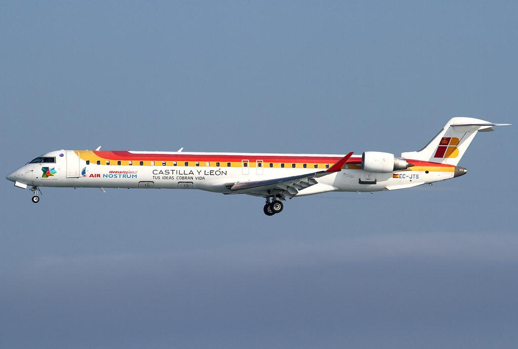 Short final for RWY04L inbound from Madrid MAD. Delivered 07/2006.