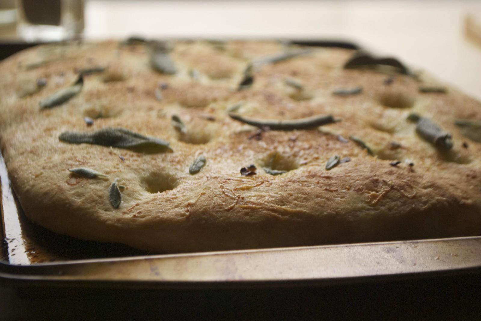 Garlic Sage Focaccia | Kitchen in the Hills
