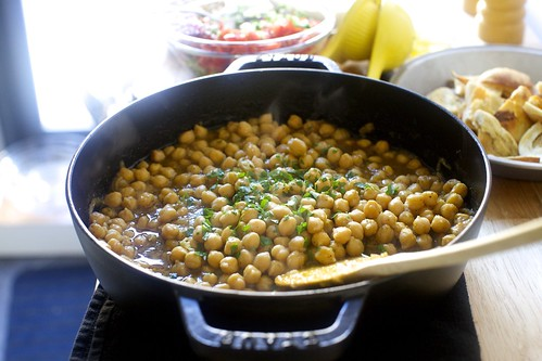 mostly baked chickpeas