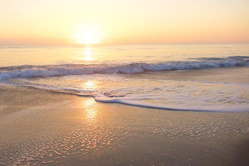 ocean beach sunrise dawn solitude surf alone florida empty foam solitary indialantic