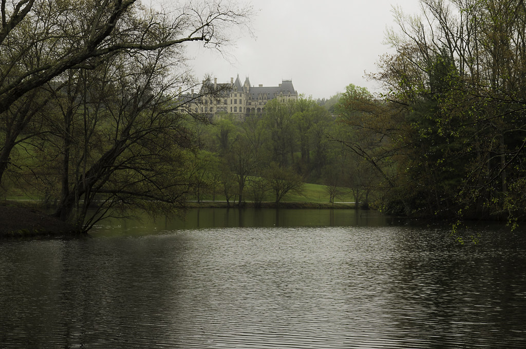 Biltmore house from the lagoon