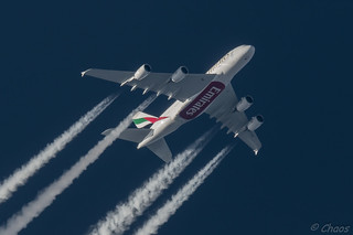 A6-EOE Emirates Airbus A380-861