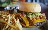 Burger w/ Cheddar, Bacon, Guacamole, Jalapeno Aioli - Table 9