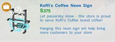 Koffis Coffee Neon Sign