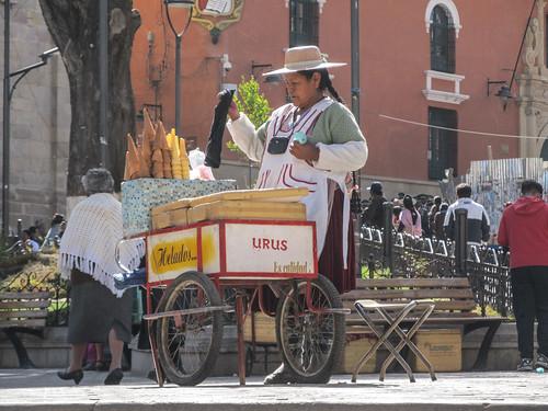 Potosi et ses vendeuses de glaces