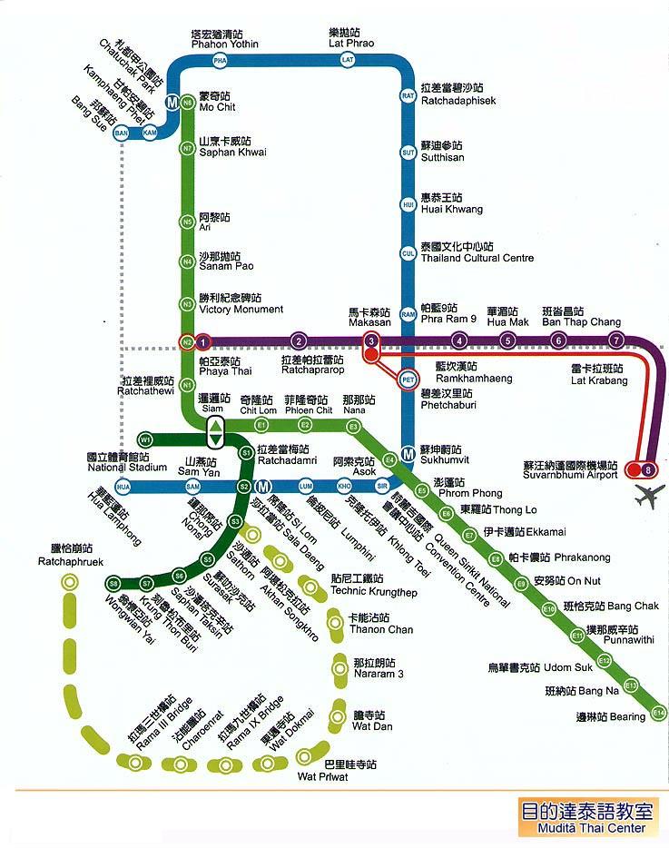 曼谷地鐵路線圖