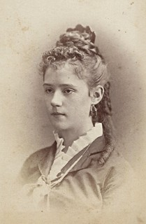 Mary Elizabeth Hulme, Bordentown Female College, 1875 (CDV by John E. Stanley Smith, 98 Main Street, Bordentown, New Jersey)