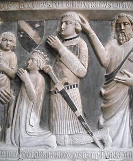 Manella and Antonello Caracciolo (Detail) - Sepulchre of Ludovico, Giannotto, Antonello and Manella Caracciolo (Black Death 1347) - Church of San Lorenzo Maggiore in Naples