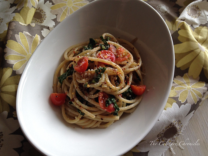 Bucatini with Anchovies and Kale