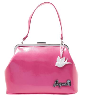 pink sourpuss purse