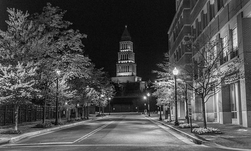 The Masonic Temple at Night by Geoff Livingston