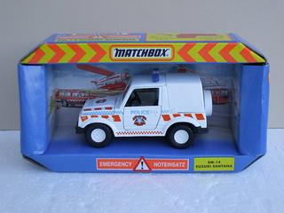 Vintage Matchbox Toys Suzuki Santana Jeep Police Car 1980's 90's