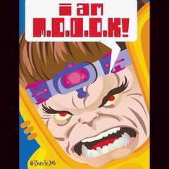 MODOK by Marc Basile ... promoting March MODOK Madness, today at www.LongboxGraveyard.com! #comics