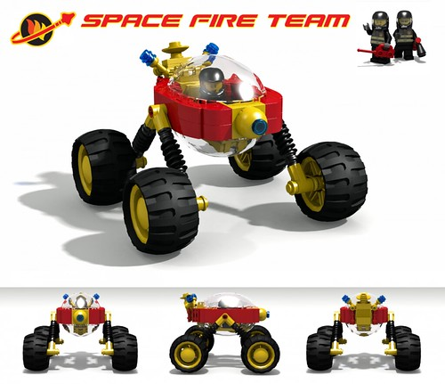 Rover - Space Fire Team (LDD Building Instructions)  by  David Roberts
