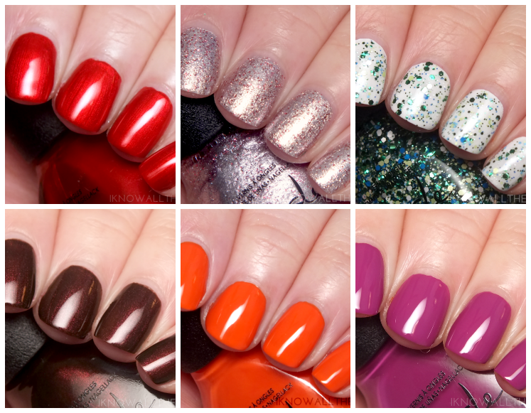 nicole by opi cocoa cola collection collage