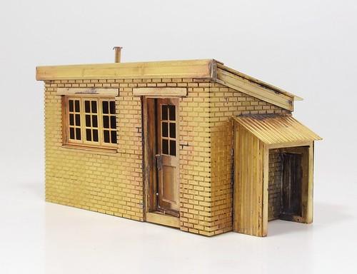 Etched hut