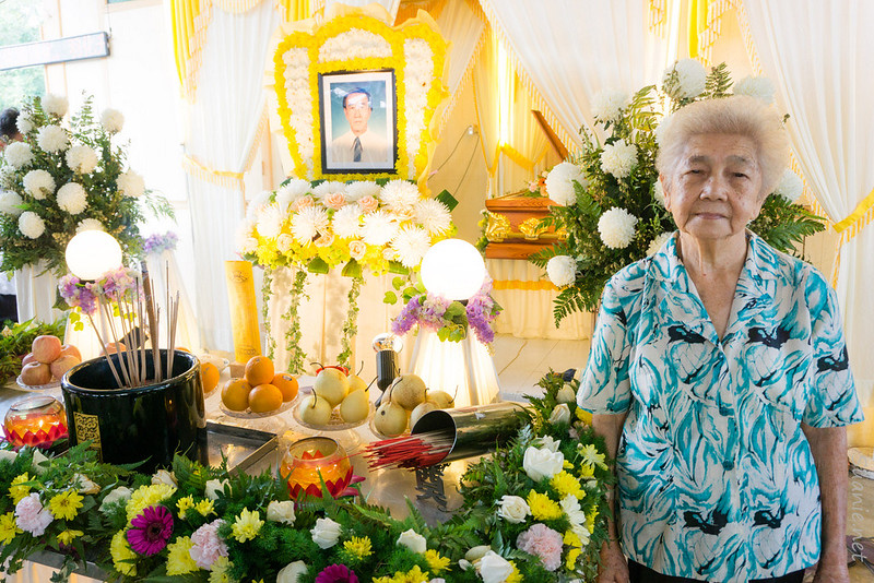 Grandmother at Grandfather's funeral