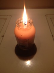 My cooking grease candle is working!