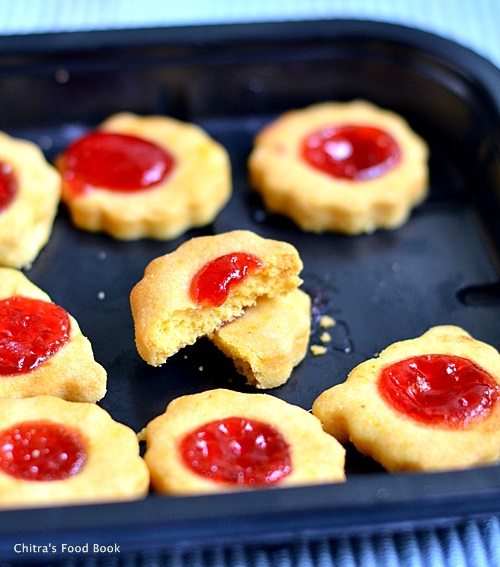 Eggless thumbprint cookies