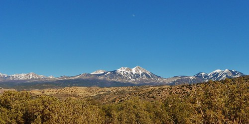 La Sal Mountains from Behind The Rocks Road